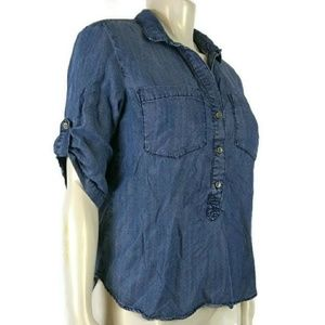 ANTHROPOLOGIE Cloth & Stone Large Button Up Shirt